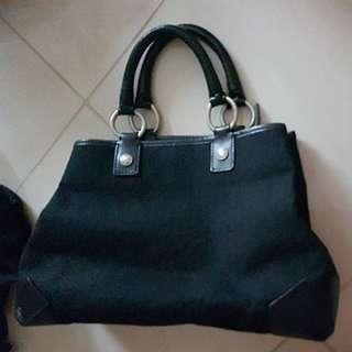 Genuine DKNY Tote Bag.  Black