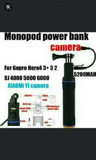 """🚚 🆕Monopod PowerBank for Action Cam+ """"The Frame"""" Oem Casing, Add $5 - Brand New Product! 😉 ✔The Product That Let's You Actioncam All Day Long!#Easter20"""