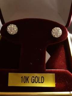 Cz earrings with 10 k posts