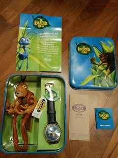 "BNIB! Limited Edition Disney Pixar ""A Bug's Life"" Hopper Fossil Watch (with serial number and limited to 5000 copies)"