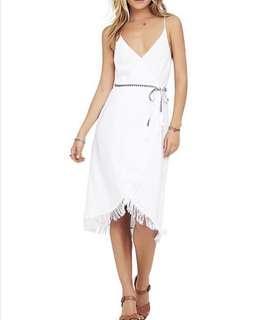 White Demi Wrap Dress