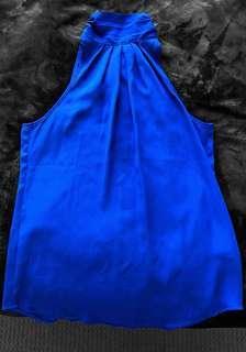 BLUE HIGH NECK TOP VALLEYGIRL SIZE 8