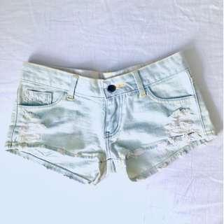 $5 SALE: Denim Wash Out Distress Shorts (do you see this marked sold? no. then OBVIOUSLY ITS AVAILABLE)