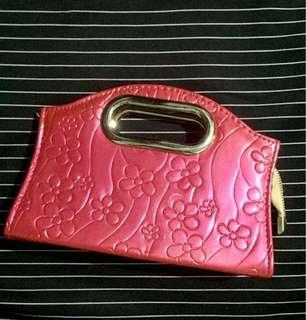 Pink Floral Handy Bag