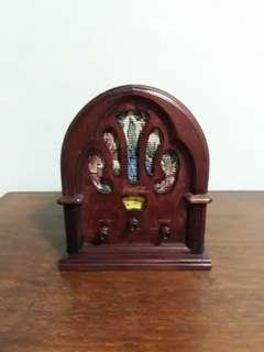 Vintage Wooden coca cola fm am radio