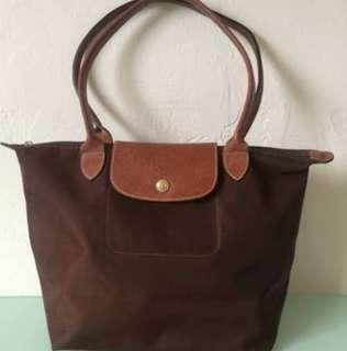 Longchamp Authentic Le Pliage Brown Limited edition