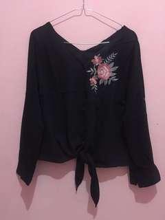 Black simple blouse