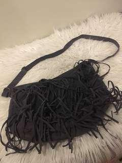 Authentic Mossimo Suede Fringe Bag