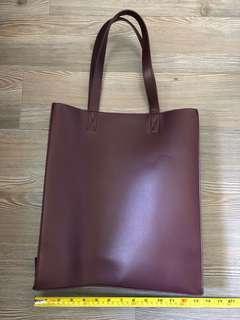 [New] Monki Tote Bag (Burgundy)
