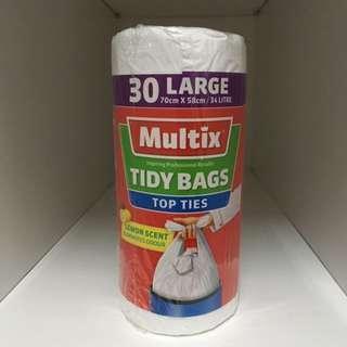 Multix Handy Ties Tidy Bags - Large (Lemon Scent)