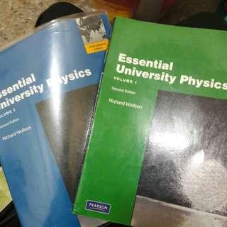 Essential University Physics 普物(兩本合售), Richard Wolfson, Pearson