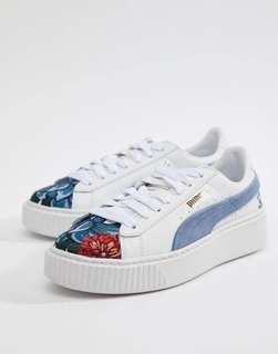Puma Suede Platform with Embroidery