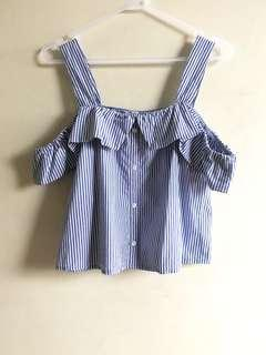 6ixty 8ight blue stripe top