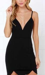 Lulus Black bodycon dress new without tags