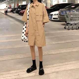 🚚 2018新款韓版立體咖啡大碼連身短褲