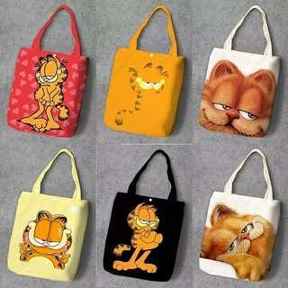 Garfield  canva tote bag