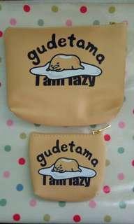 BN Gudetama 2-piece Zipped Pouch