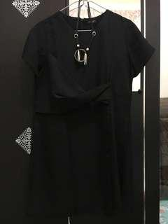 Black Dress with Necklace