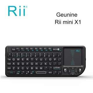 🚚 Rii Mini X1 Handheld 2.4G Wireless Keyboard Touchpad Mouse for PC Notebook Smart TV Black