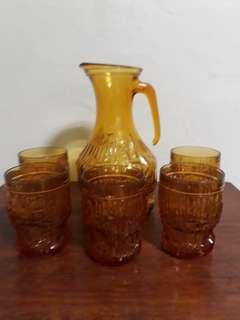 Old Glasses With Jug