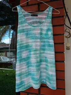 Turquoise/Blue translucent beach/gym Singlet/Top #3×100