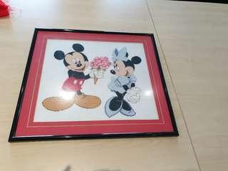 Mickey cross stitch artwork
