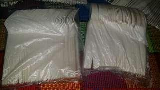 Disposable plastic cutlery (pack of 50pcs each)