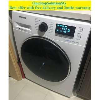 Samsung (8.0kg / 6.0kg) Washer Dryer 2-in-1 ($550+ free delivery and 2mths warranty)