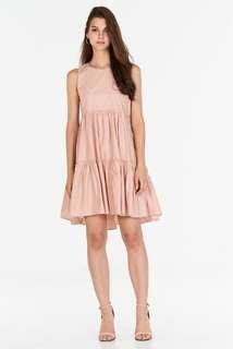 🚚 (pending) bnip bnwot tcl the closet lover lorene babydoll tiered dress in light pastel dusty pink