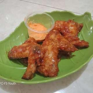 Fire wings hot cheese ( open order area sby aja )