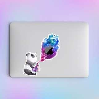 Panda Releasing the Genie Macbook Laptop Vinyl Decal