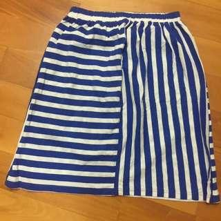 ebase - mixed stripes skirt