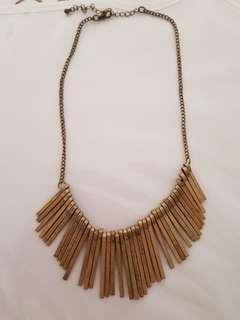 Forcast bronze necklace