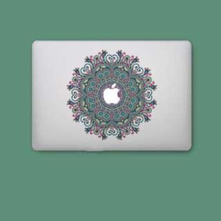 Ornamental Intricate Paisley Design Macbook Laptop Decal
