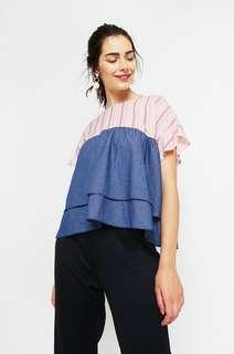 (NEW) Cotton Ink Layered Top