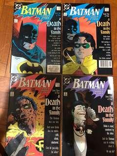 Batman death in the family book 1-4 (426-429) 1988