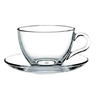 [Looking for] Clear glass teacup with saucer set - tea cup - cawan