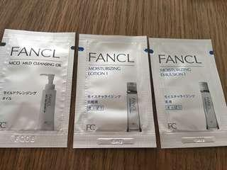 Fancl face care samples