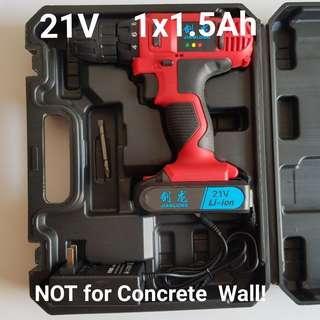 21V 1.5Ah Cordless Screwdriver Drill