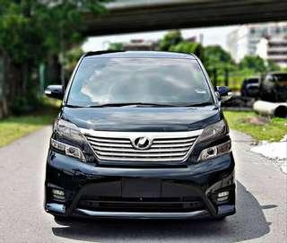 SAMBUNG BAYAR/CONTINUE LOAN  TOYOTA VELLFIRE 2.4 YEAR 2010/2015 MONTHLY RM 1980 BALANCE 5 YEARS 8 MONTHS ROADTAX VALID 7 SEATERS 2 POWER DOORS TIPTOP CONDITION  DP KLIK wasap.my/60133524312/vellfire