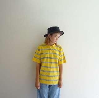 🚚 🔥Polo衫任兩件8折🔥L.L.Bean黃色條紋Polo衫