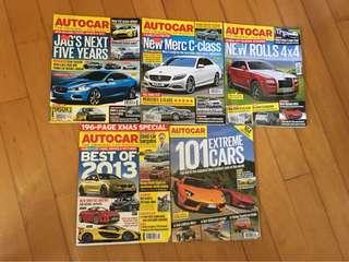 AUTOCAR the original car weekly x 4/special collection's edition x 1