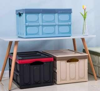 Foldable/ collapsible storage container with lid, Plastics Box foldable