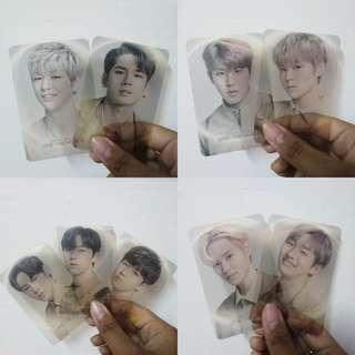 [READY STOCK] WANNA ONE: THE WORLD TOUR TRANSPARENT PHOTOCARD