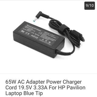1ed36ad1499 65W AC Adapter Power Charger Cord 19.5V 3.33A For HP Pavilion Laptop Blue