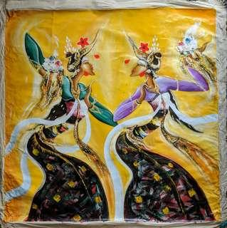 Balinese Dancers Oil Painting on Canvas