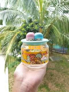 Sanrio Little Twin Stars Glass Container Collectible