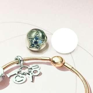 Pandora Blue Moon Star Clip
