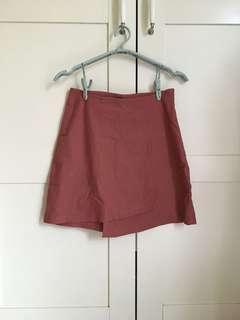 Meierq粉紅色短裙