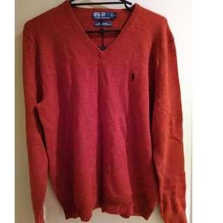 Polo by Ralph Lauren 100% Lambs Wool V-neck Sweaters (M)